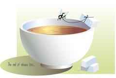 杯子飞行 向量例证