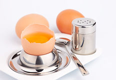 杯子鸡蛋 免版税库存照片