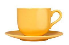 杯子黄色 免版税库存图片