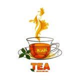 杯子离开造币厂的茶 免版税库存照片