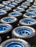 杯子goodyear nascar赛跑的短跑轮胎 库存照片