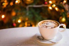 杯子latte咖啡 免版税库存照片