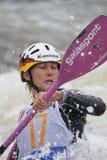 杯子melanie pfeifer种族障碍滑雪水世界 免版税库存图片