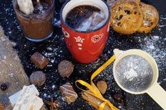 杯巧克力 免版税库存图片