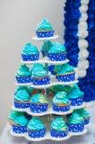 杯形蛋糕、蛋糕和假日曲奇饼 免版税图库摄影