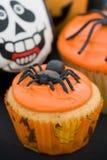 杯形蛋糕万圣节 免版税库存照片