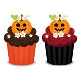 杯形蛋糕万圣节 免版税库存图片