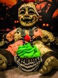 杯形蛋糕万圣节 库存照片