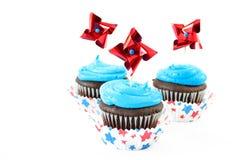 杯形蛋糕主题的美国 图库摄影