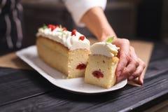杯形蛋糕充满装饰 图库摄影