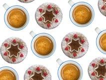 杯形蛋糕和咖啡 图库摄影