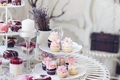 杯形蛋糕和微型杯形蛋糕 免版税库存照片