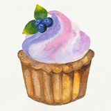 杯形蛋糕和蛋糕 免版税库存照片