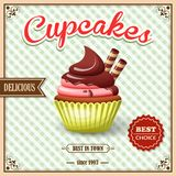 杯形蛋糕咖啡馆海报 库存例证