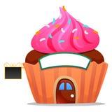 杯形蛋糕咖啡馆 免版税库存照片