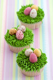 杯形蛋糕复活节 库存图片