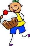 杯形蛋糕孩子 库存例证
