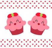 杯形蛋糕桃红色俏丽 免版税库存图片