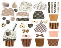 杯形蛋糕模板 库存照片