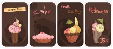 杯形蛋糕横幅 免版税库存照片