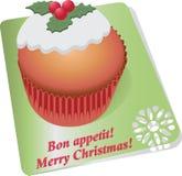 杯形蛋糕用圣诞节莓果 蓝色云彩图象彩虹天空向量 库存图片