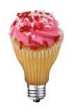 杯形蛋糕电灯泡 库存图片