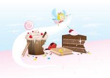 杯形蛋糕神仙 免版税库存照片