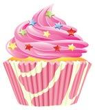 杯形蛋糕粉红色 免版税库存图片