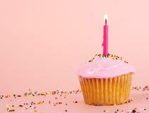 杯形蛋糕粉红色 图库摄影
