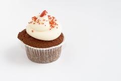 杯形蛋糕红色天鹅绒 免版税图库摄影