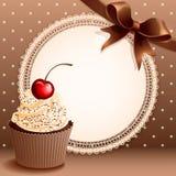 杯形蛋糕背景 库存例证