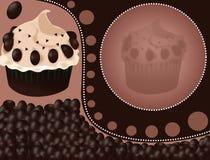 杯形蛋糕背景 免版税库存照片