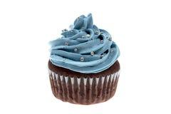 杯形蛋糕蓝色 免版税库存照片