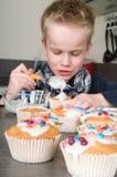 杯形蛋糕装饰 库存图片