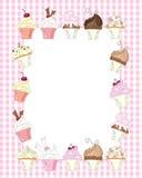 杯形蛋糕边界 免版税库存照片