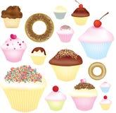 杯形蛋糕选择 库存照片