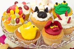杯形蛋糕选择 库存图片