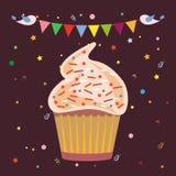 杯形蛋糕面包点心店商标 向量例证