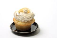 杯形蛋糕香草 库存图片