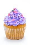 杯形蛋糕紫色 免版税库存图片