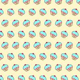杯形蛋糕- emoji样式52 向量例证