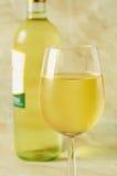 杯意大利白葡萄酒 免版税库存照片