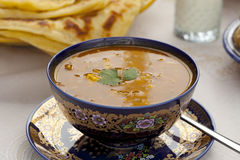 杯摩洛哥harira汤 图库摄影