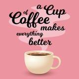 杯新鲜的咖啡 皇族释放例证
