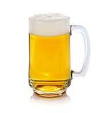 杯新鲜的啤酒 免版税图库摄影