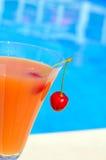 杯汁液和樱桃 库存照片