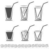 杯汁液象集合 库存图片
