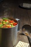 杯热的蔬菜汤 库存图片