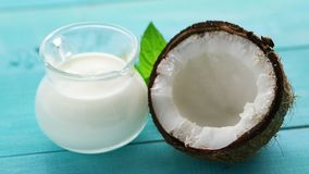 杯牛奶和一半椰子 股票录像