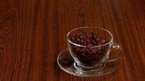 杯用咖啡豆 库存图片